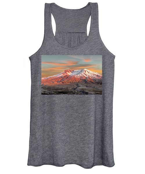 Mount St Helens Sunset Washington State Women's Tank Top