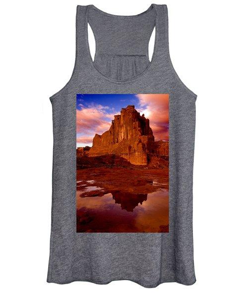 Mountain Sunrise Reflection Women's Tank Top