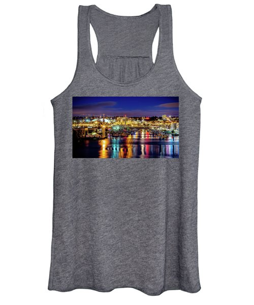 Murray Morgan Bridge View During Blue Hour In Hdr Women's Tank Top