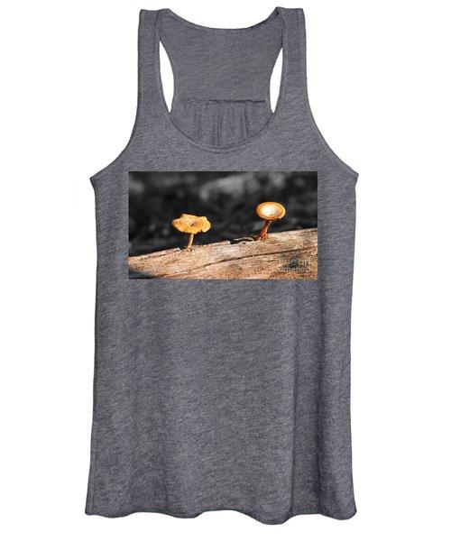 Mushrooms On A Branch Women's Tank Top