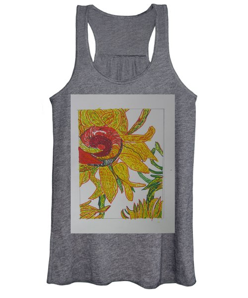 My Version Of A Van Gogh Sunflower Women's Tank Top