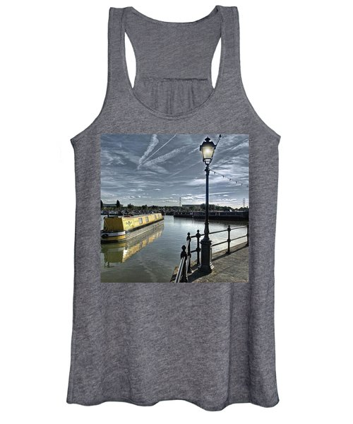 Narrowboat Idly Dan At Barton Marina On Women's Tank Top