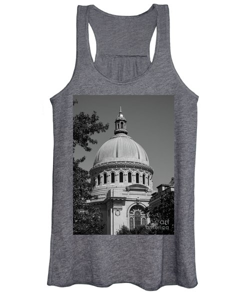 Naval Academy Chapel - Black And White Women's Tank Top