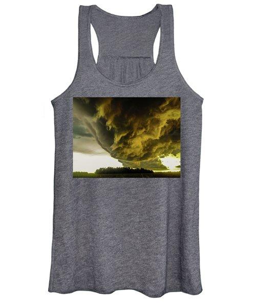Nebraska Supercell, Arcus, Shelf Cloud, Remastered 018 Women's Tank Top