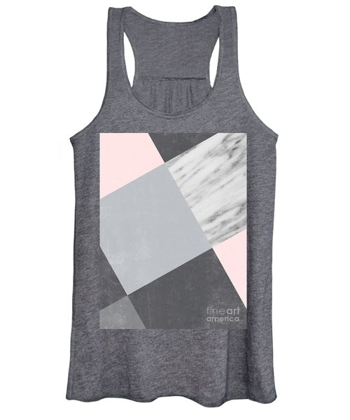 Neutral Collage With Marble Women's Tank Top