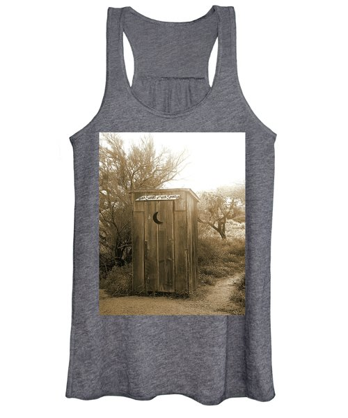Never Squat With Your Spurs On, Sepia Women's Tank Top