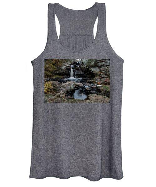 New England Waterfall In Autumn Women's Tank Top