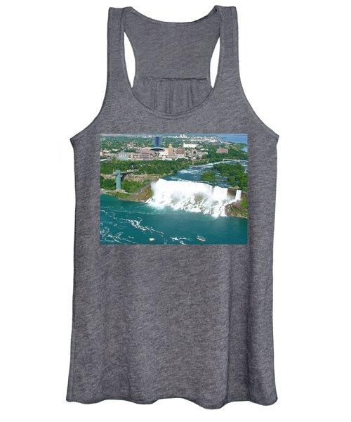 Niagara American And Bridal Veil Falls  Women's Tank Top