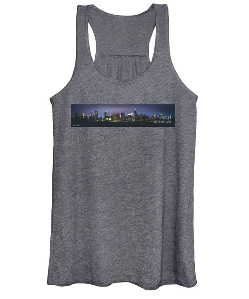 Night View Of Downtown Skyline In Winter Women's Tank Top