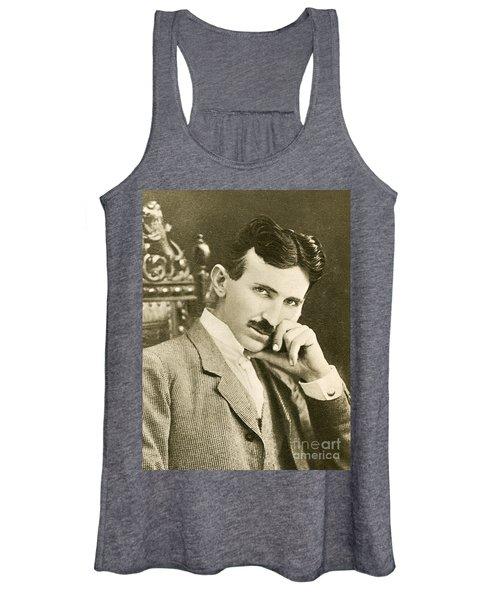 Nikola Tesla, Serbian-american Inventor Women's Tank Top