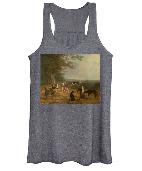 Nine Greyhounds In A Landscape Women's Tank Top