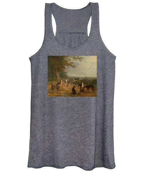 Nine Greyhounds In A Landscape Women's Tank Top