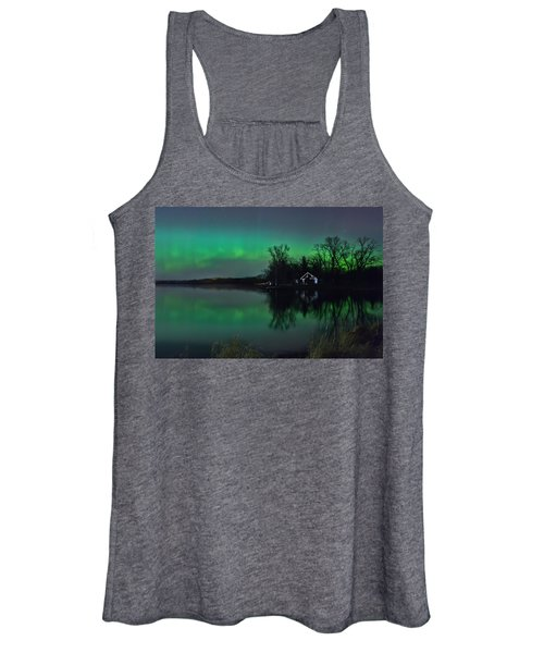 Northern Lights At Gull Lake Women's Tank Top
