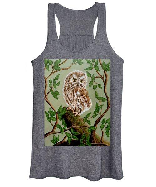 Northern Saw-whet Owl Women's Tank Top