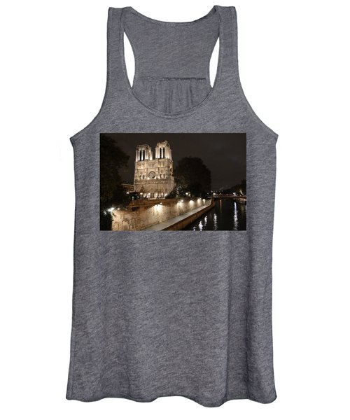 Notre Dame Cathedral From Petit Pont Women's Tank Top