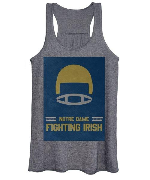 Notre Dame Fighting Irish Vintage Football Art Women's Tank Top