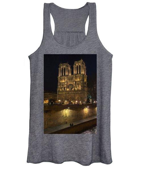 Notre Dame Night Painterly Women's Tank Top