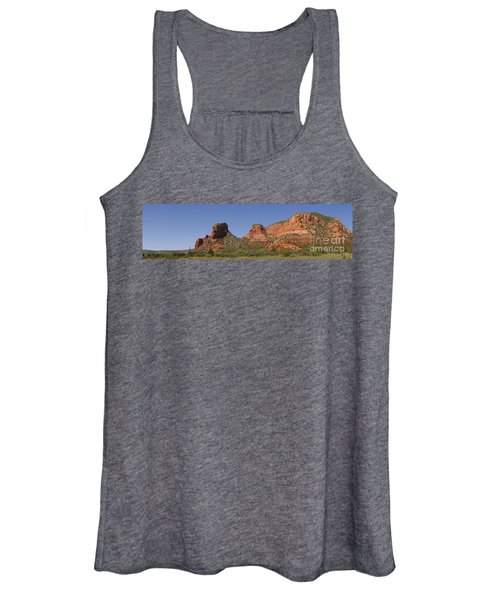 Oak Creek Panorama In Red Women's Tank Top