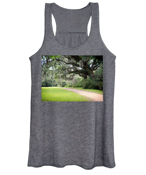 Women's Tank Top featuring the photograph Oak Over The Trail by Michael Colgate