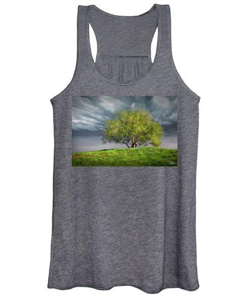Oak Tree With Tire Swing Women's Tank Top