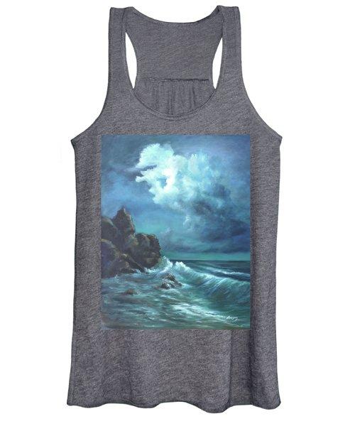 Seascape And Moonlight An Ocean Scene Women's Tank Top