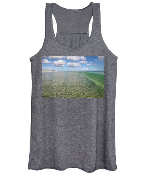Ocean Waves And Clouds Rollin' By Women's Tank Top