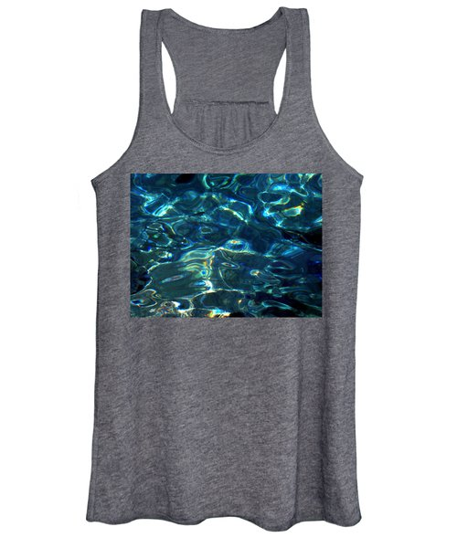 Ocean Water Reflections Island Santorini Greece Women's Tank Top