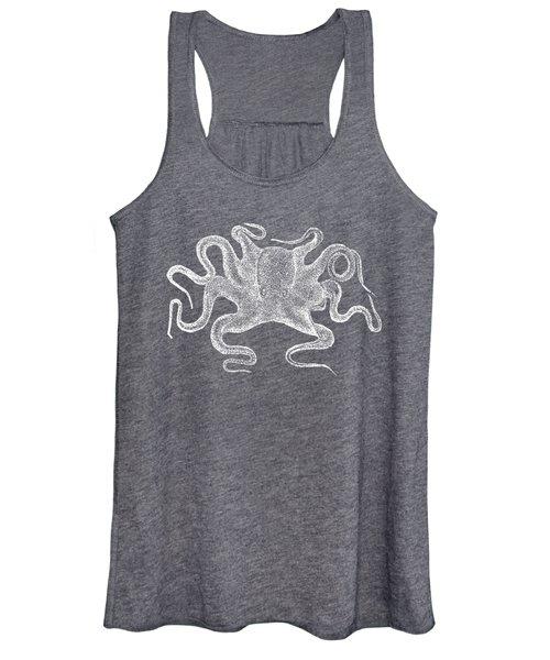 Octopus White Ink Tee Women's Tank Top