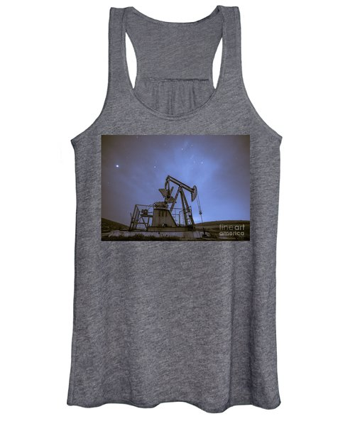 Oil Rig And Stars Women's Tank Top