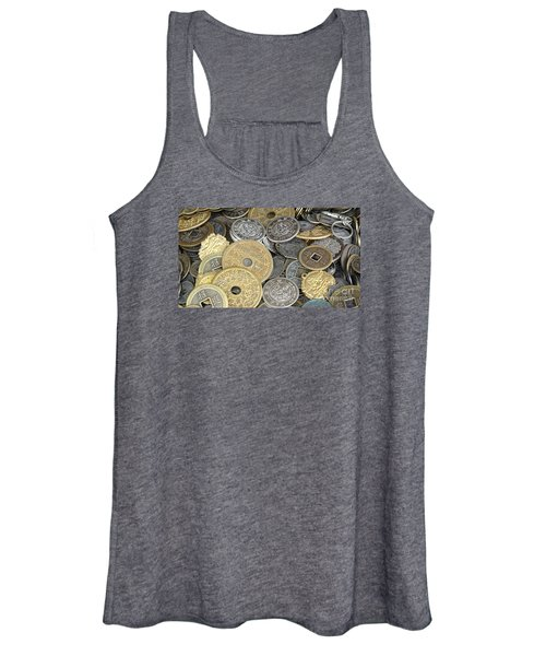 Old Chinese Coins And Money Women's Tank Top