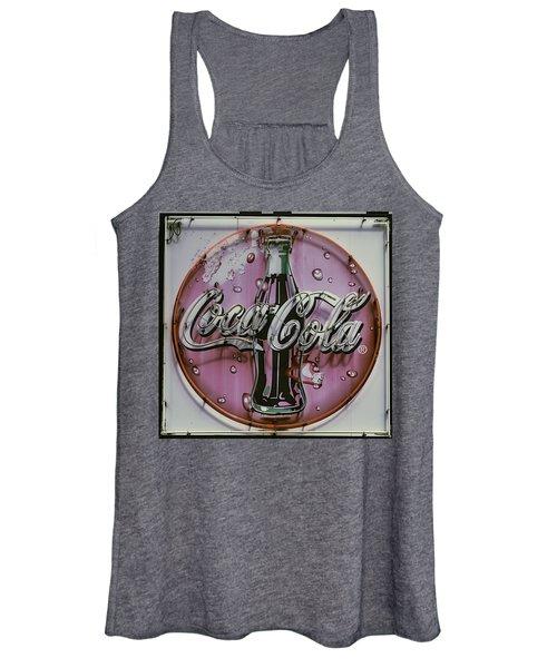 Old Coke Neon Sign Women's Tank Top