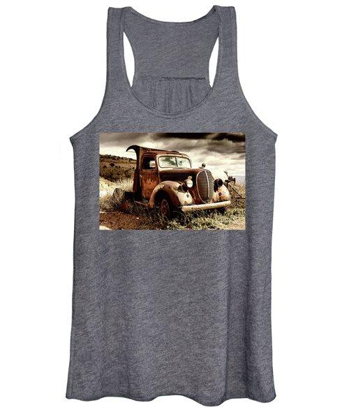 Old Ford Truck In Desert Women's Tank Top