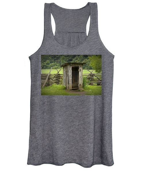 Old Outhouse On A Farm In The Smokey Mountains Women's Tank Top