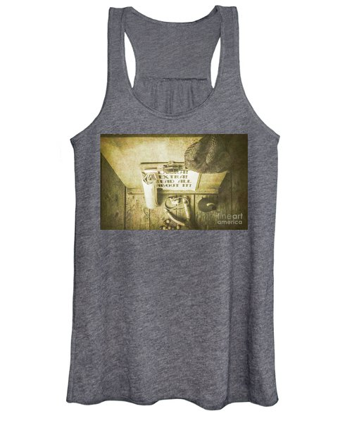 Old Paper Boy News Stand Women's Tank Top