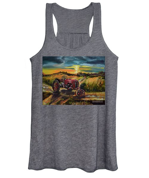 Old Red At Sunset - Tractor Women's Tank Top