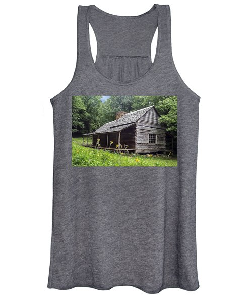 Old Settlers Cabin Smoky Mountains National Park Women's Tank Top