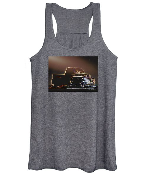 Old Sketched Pickup Women's Tank Top