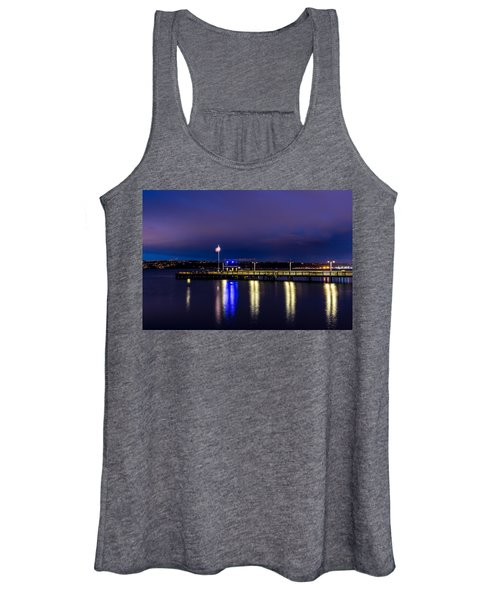 Old Town Pier During The Blue Hour Women's Tank Top