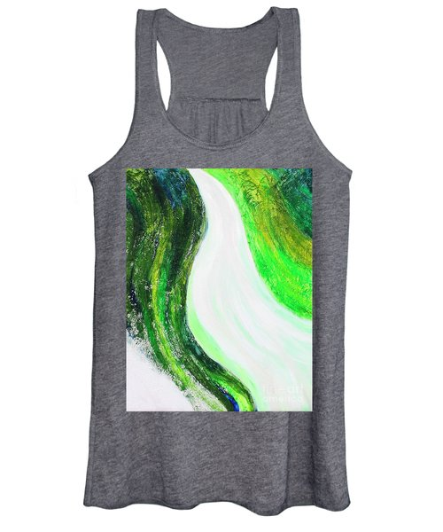 On The Road In Green Women's Tank Top