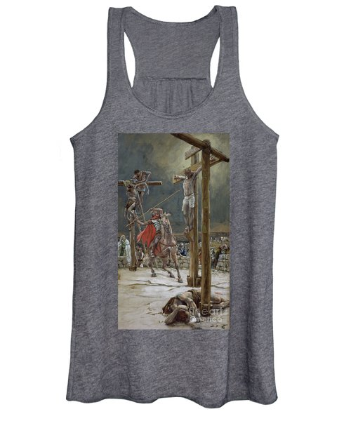 One Of The Soldiers With A Spear Pierced His Side Women's Tank Top