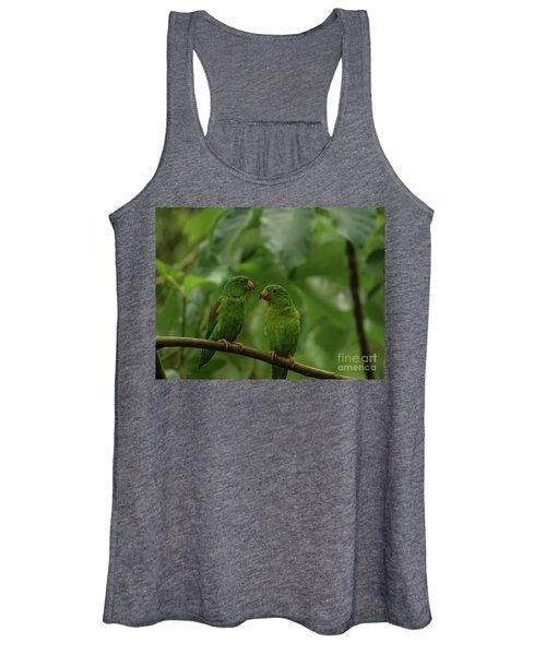 Orange-chinned Parakeets-  Women's Tank Top