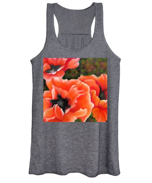 Orange Poppies Women's Tank Top