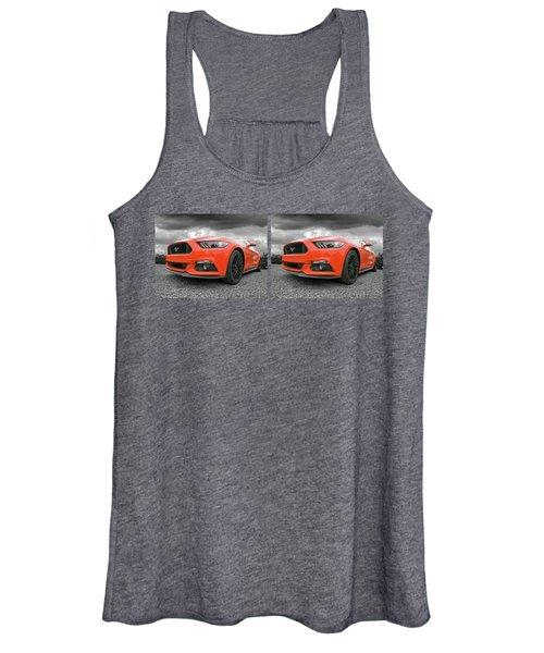 Orange Storm - Mustang Gt Women's Tank Top