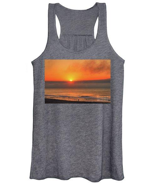 Orange Sunrise On Long Beach Island Women's Tank Top