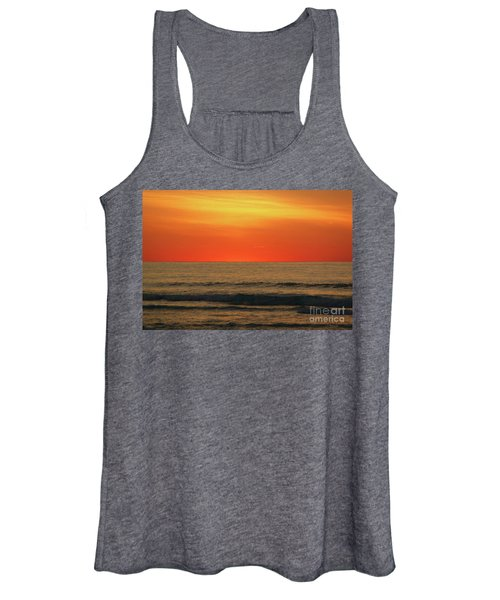 Orange Sunset On The Jersey Shore Women's Tank Top