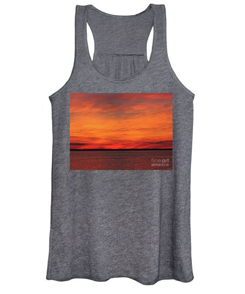 Orange Sunset On The New Jersey Shore Women's Tank Top