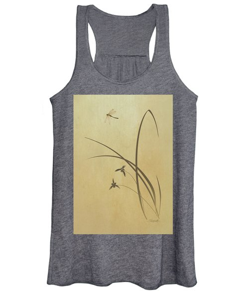 Orchid And Dragonfly Women's Tank Top