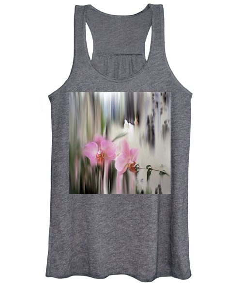 Orchids With Dragonflies Women's Tank Top