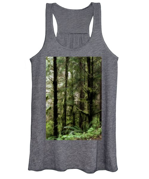 Oregon Old Growth Coastal Forest Women's Tank Top