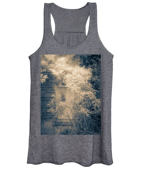 Overgrowth On Abandoned Pumping Station Women's Tank Top